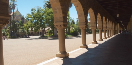 The Stanford Quad. Photo by Hannah Ronca Printed 10/11/17