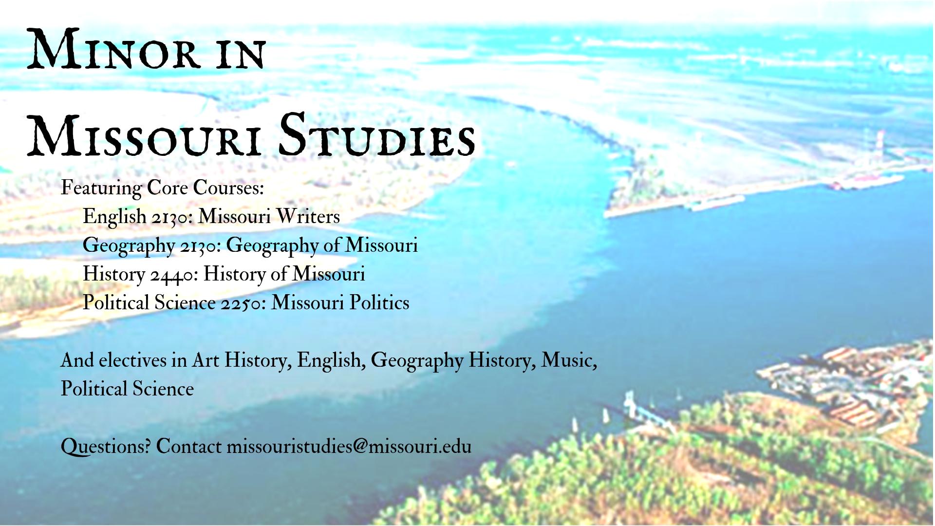 Minor in Missouri Studies